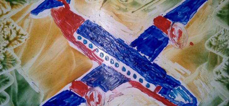 Энкаустика: Рисуем самолет утюгом. Пошаговая инструкция.