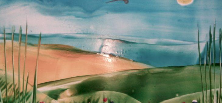 Энкаустика: Урок 1 «Рисуем степной пейзаж»