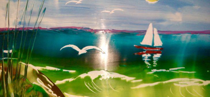 Энкаустика: Урок 3 «Рисуем море утюгом»
