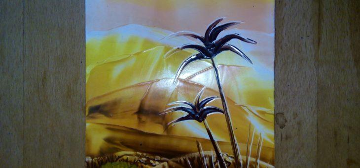 Энкаустика: Урок 4 «Рисуем пустыню утюгом»